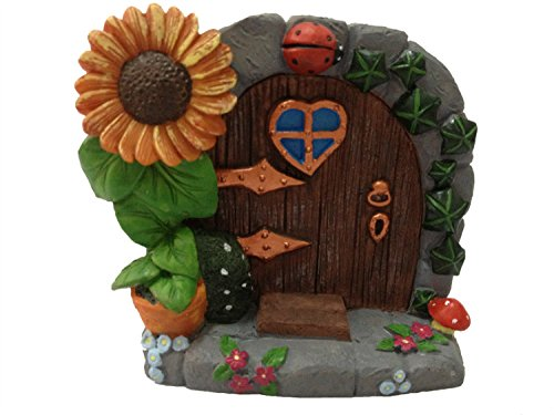 Home fashion Miniatur Mystical Fairy Garden Gnome Home Tür 8,9cm