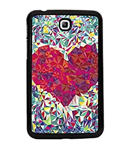 Beautiful Diamond Heart 2D Hard Polycarbonate Designer Back Case Cover for Samsung Galaxy Tab 3 :: Samsung Galaxy Tab 2 P3200