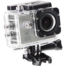 Ultrasport UmovE HD60 - Cámara de acción, color plata, Ready, incluye tarjeta de memoria micro SD de 16 GB