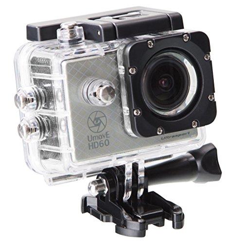 Ultrasport UmovE HD60 - Cámara de acción, color plata, Ready, incluye tarjeta de memoria micro SD de 16