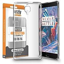 Orzly® - FlexiCase para OnePlus 3 SmartPhone ( 2016 Version / Dual SIM Modelo Teléfono Móvil) - Funda Protectora de Gel Flexible - Semi Transparente TRANSPARENTE