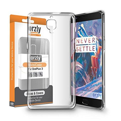 Sim-handy Drei (Orzly® - FlexiCase für das OnePlus 3 – Flexible Silikon / Gel / SOFT TPU Handyhülle / Schutzhülle / Hülle / Cover / Case für das OnePlus 3 [2016 Modell / Dual SIM Version] SmartPhone / Handy – 100% Transparent)