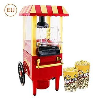 Popcorn-Maschine, Popcornmaschine Retro mit Wagen, Popcorn Maker mit Zucker und öl für Zuhause, Popcornmais Popcorn für popcornmaschine, Party Snackbox Geschenk Geburtstag Kinder
