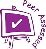 """Peer assessed"" Self inking teacher reward stamp X12057"