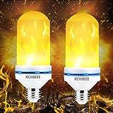 LED Flamme Effekt Glühbirne, Kohree E27 LED Flimmer Feuer Birne Simulierte Dekorative Leuchte, Vintage Flackerlicht Bulb für Bar/Festival Dekoration (2 Stück)