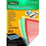 Fellowes 53762 - Portadas de encuadernación (PVC, 240 micras), transparente