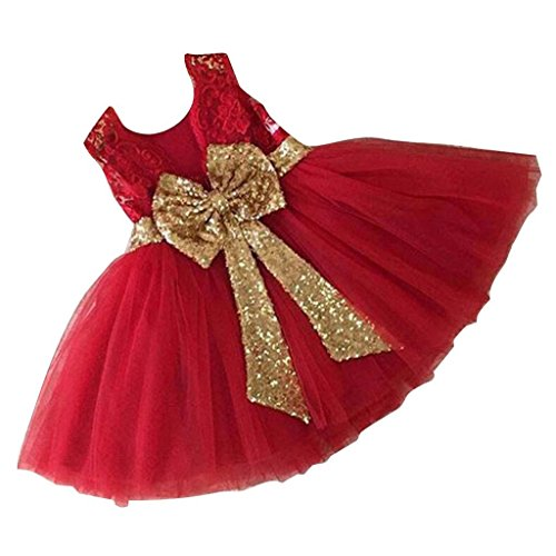 Princess Fancy Dress - Inlefen Mädchen Bowknot Spitze Prinzessin Rock