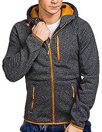 FNKDOR Sweat-Shirt à Capuche pour Hommes Printemps Automne Hiver Sport Pull  en Zippé à Manches… bb6cb088fc36
