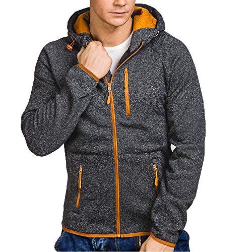 24b5966fd0382 Xmiral Herren Pullover Mantel Herbst Winter Casual Reißverschluss Langarm  Hooded Sweatshirt.