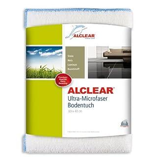 ALCLEAR 950009 Ultra-Microfaser Bodentuch: perfekte Reinigung und Pflege für fast jeden glatten Fußboden: Fliesen, Marmor, Laminat, Parkett, 60 x 40 cm, weiß