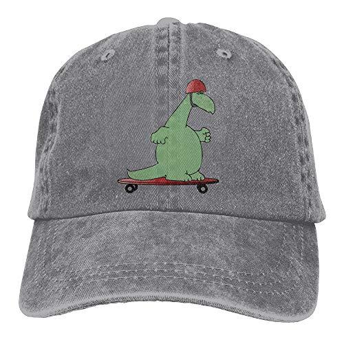 kslae Dinosaurier-Schutzhelm-Dia-Platten-Weinlese-Fernlastfahrer-Hut Gewaschene Denim-Erwachsene Cowboyhut-Baseballmütze -