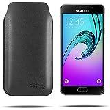 tinxi® Etui en similicuir Universel Ultra-mince pour Samsung Galaxy A3 2016 Version(4,7 pouces,A310f) Housse de protection/Noir