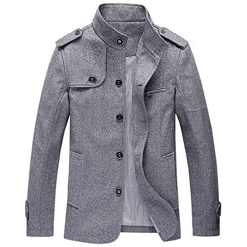 Mode Herren Herbst Winter Casual Pocket Button Thermische Lederjacke Top Coat Malloom, angarmbluse Patchwork Pullover Sweatshirt Top T-Shirt Outwear
