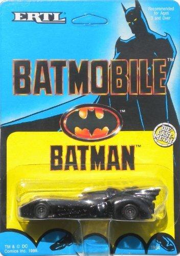 Ertl 1989 Batman> 1:64 Scale Batmobile Variant Bob Kane Card Art by Toys4Sale