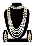 Best Choker Necklace Prime - Sadhana Collection Traditional Kundan Pearl Necklace Choker Set Review