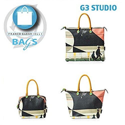 Gabs G3 Studio tg. L 239 flora b/n + verde