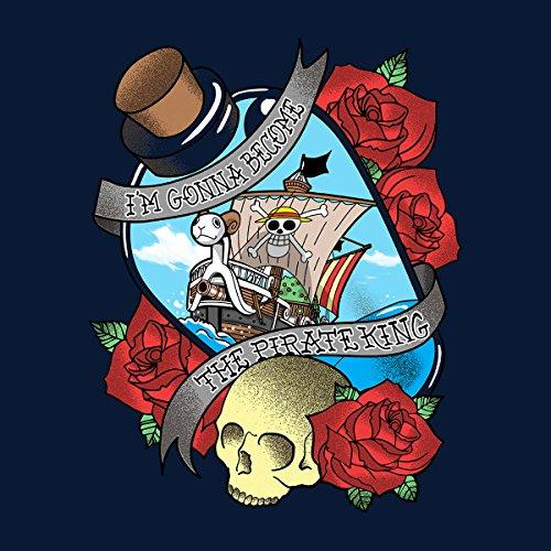 One Piece Pirate King Men's Vest Navy Blue