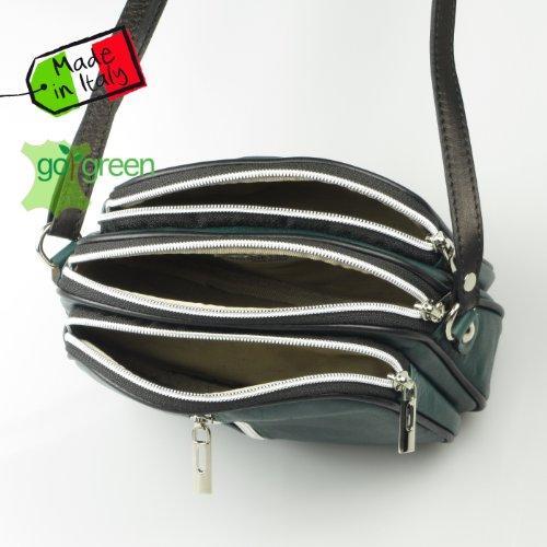 collezione alessandro, Borsa a spalla donna Verde (verde)