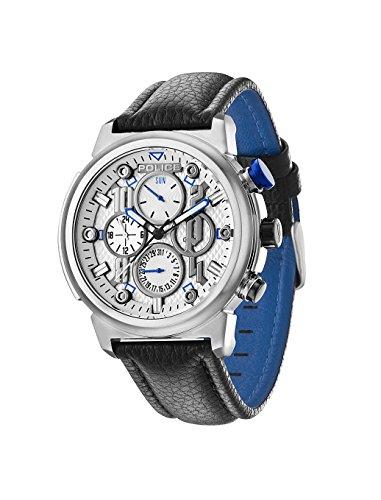 Police 14250XS/04 - Reloj de pulsera hombre, piel, color negro