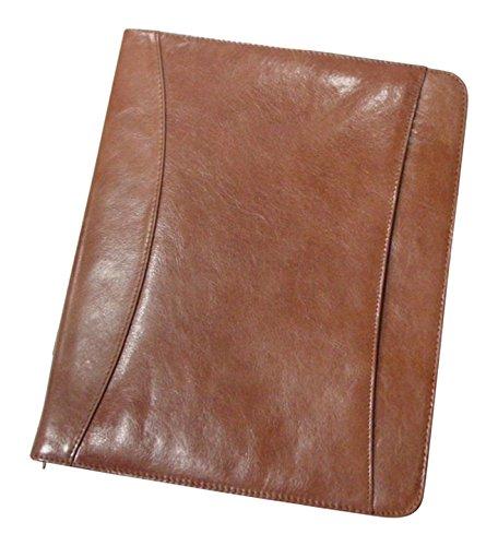 Superdeals Store Bellino Cowhide Leather Zip Around Pad Organizer by Superdeals Store - Zip Around Organizer
