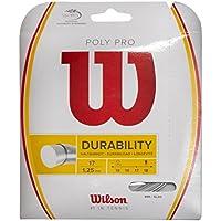 Wilson Poly Pro 15 Set Cordaje para Raquetas-Unisex, Adulto, Plata, 15G