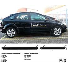 Spangenberg Listones de protección Lateral, Color Negro, para Ford Focus II Hatchback & Combi