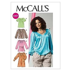 McCall's Patterns M6470 Patrons de couture pour hauts/tuniques/ceintures/robes pour femme Taille Y (XS/S/M)