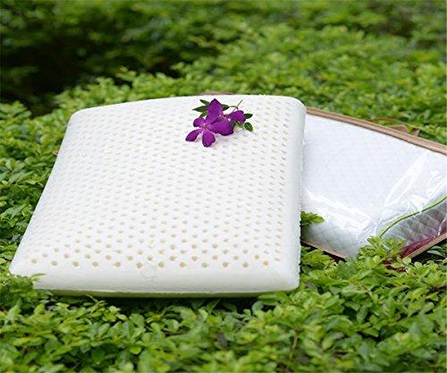 GXSCE Naturlatex-Kissen, hypoallergen und staubdicht, Anti-Schnarch-Kopf Soft Support Bequeme Waschbar Kissen