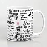 ZIQIZIYU Harry Styles Lyrics 325 ml Taza De Café