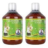 Silicium G5 Siliplant Supplement 2er-Pack 2 x 500ml: hoch konzentriertes organisches Silizium (Kieselsäure) aus dem Schachtelhalm | für starke Knochen, Gelenke und Sehe, schöne Haut, Haare und Nägel