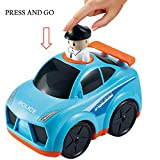 Baybee Infunbebe Unbreakable Press and Go Police Car Toy for Baby Development, Educational