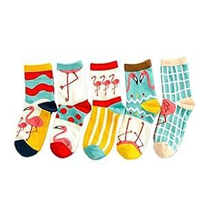 Frauen Damen Süß Baumwoll Socken Flamingo
