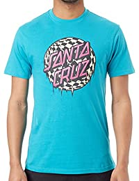 Santa Cruz Lake Blue Check Waste Dot T-Shirt