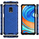 For Xiaomi Redmi Note 9 pro / Redmi Note 9s Shockproof Frame TPU hard PC Clear Case Cover-Blue