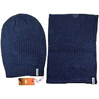 Completo Inverno CHARRO Cappello cuffia / rasta + Scaldacollo set 2pz. lana uomo (Cappello Di Inverno Guanti)