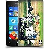 Head Case Designs Acampada Fotos De Aventura Garabateadas Caso Duro Trasero para Microsoft Lumia 435 / Dual SIM