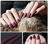 #6: 24 PC/Set Premium Quality MATTE finish Reusable Artificial nails with professional Nail Glue.Nail Art