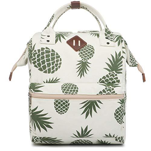 Oflamn City Rucksack Damen Herren Vintage Daypack Laptop Tasche 14 Zoll 14liters (Ananas)