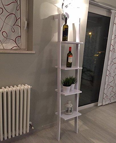 Libreria mensola scala mensola design scaffale libri a for Scaletta bagno ikea