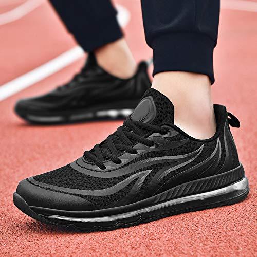 LOVDRAM Scarpe da Uomo Scarpe da Uomo Completi di Cuscini con Cuscinetti A Molle Primavera novità Scarpe Sportive Scarpe da Corsa per Studenti Autunno Scarpe Casual, Nero, 42