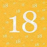 Servietten 18 Geburtstag mit Prägung 20 Stück
