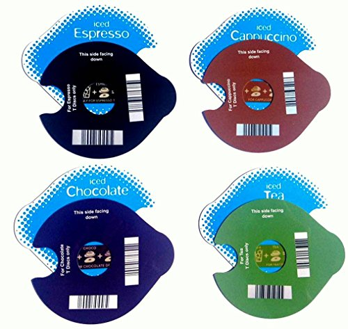 4 discos de hielo («T») reutilizables para máquinas TassimoPara capuchino, café, té y chocolate.