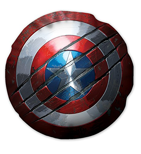 T & F 8051511300624cojín Muebles Recorte Marvel-Capitan America, poliéster, 37x 20x 5cm