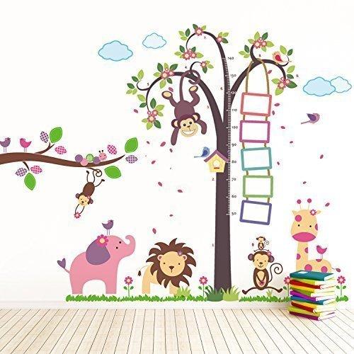 walplus-tm-stickers-muraux-repositionnables-pour-chambre-denfant-singe-hauteur-mesure-huge-elephant-