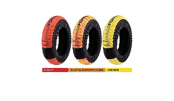 Matrix Reifenwärmer Tire Warmers Racefoxx Basic 100 C Heiztemperatur Superbike 120 17 Vorne Und 180 200 17 Hinten Rennsport Heizdecken Motorradreifen Auto