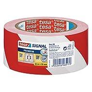 tesa® 58131-00-00 Signal Markierungsklebeband Premium rot/weiß 66m:50mm