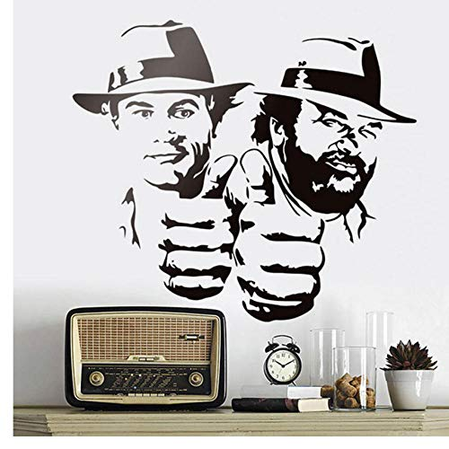 Bud Spencer Und Terence Hill Wandaufkleber Lächerlich Lustig Charakter Porträt Vinyl Aufkleber Klassische Film Abbildung Wandbilder 48x42 cm