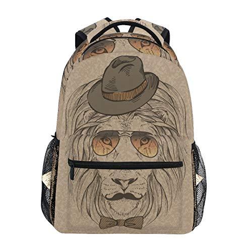 Kühler Löwe Grau Schulter Student Rucksacks Bookbags Kinderrucksack Büchertasche Rucksäcke für Teen Mädchen Jungs