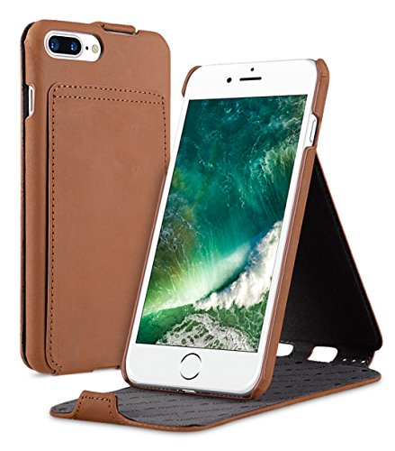 Apple Iphone 7 Melkco Jacka Type Premium Leather Case with Premium Leather Hand Crafted Good Protection,Premium Feel-Red LC Classic Vintage Brown 5