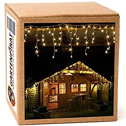 24,0 m Ice storm Christmas lights with 960 LED warm white for outside and inside